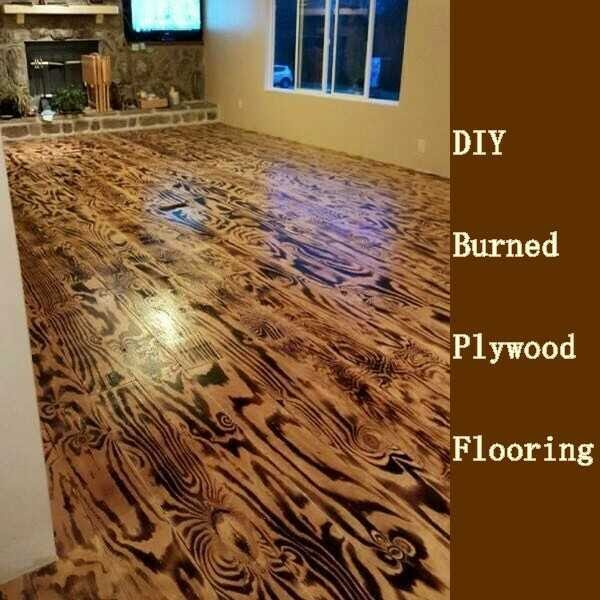 DIY PLYWOOD FLOORS
